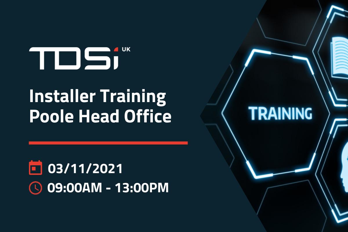 Poole Installer Training – November 3rd 2021